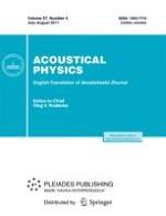 Acoustical Physics 4/2011