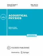 Acoustical Physics 4/2016
