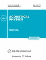 Acoustical Physics 6/2017