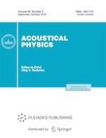Acoustical Physics 5/2018