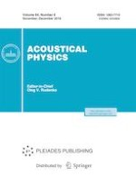 Acoustical Physics 6/2018