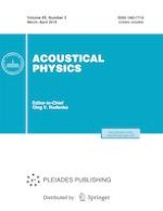 Acoustical Physics 2/2019