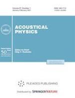 Acoustical Physics 1/2021