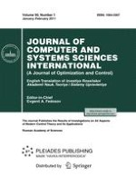 Journal of Computer and Systems Sciences International 1/2011