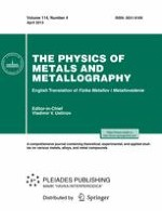 Physics of Metals and Metallography 4/2013