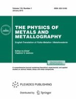 The Physics of Metals and Metallography 1/2015