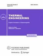 Thermal Engineering 8/2013