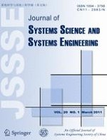 Journal of Systems Science and Systems Engineering 1/2011