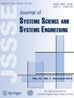 Journal of Systems Science and Systems Engineering 4/2013