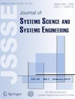 Journal of Systems Science and Systems Engineering 1/2019