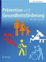 Prävention und Gesundheitsförderung 2/2016