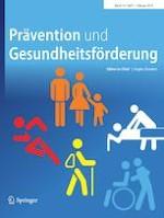 Prävention und Gesundheitsförderung 1/2019