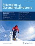 Prävention und Gesundheitsförderung 4/2012