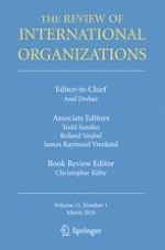 The Review of International Organizations 1/2016