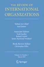 The Review of International Organizations 1/2018