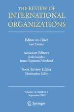 The Review of International Organizations 3/2019