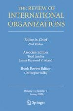 The Review of International Organizations 1/2020