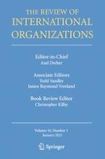 The Review of International Organizations 1/2021