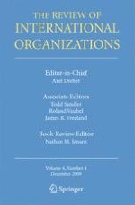 The Review of International Organizations 4/2009