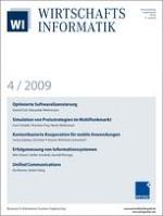 WIRTSCHAFTSINFORMATIK 4/2009