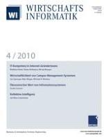 WIRTSCHAFTSINFORMATIK 4/2010