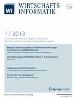 WIRTSCHAFTSINFORMATIK 1/2013