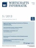 WIRTSCHAFTSINFORMATIK 5/2013
