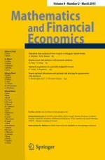 Mathematics and Financial Economics 2/2015