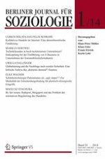 Berliner Journal für Soziologie 1/2014