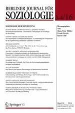Berliner Journal für Soziologie 3-4/2016