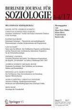 Berliner Journal für Soziologie 3-4/2017