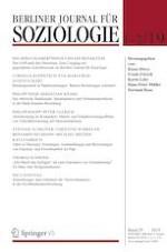 Berliner Journal für Soziologie 1-2/2019