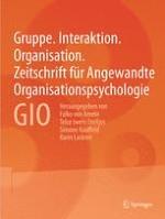 Gruppe. Interaktion. Organisation. Zeitschrift für Angewandte Organisationspsychologie (GIO) 2/2001