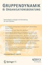 Gruppe. Interaktion. Organisation. Zeitschrift für Angewandte Organisationspsychologie (GIO) 4/2013