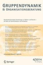 Gruppe. Interaktion. Organisation. Zeitschrift für Angewandte Organisationspsychologie (GIO) 4/2014