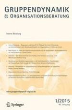 Gruppe. Interaktion. Organisation. Zeitschrift für Angewandte Organisationspsychologie (GIO) 1/2015