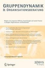Gruppe. Interaktion. Organisation. Zeitschrift für Angewandte Organisationspsychologie (GIO) 2/2015