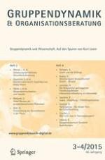 Gruppe. Interaktion. Organisation. Zeitschrift für Angewandte Organisationspsychologie (GIO) 3-4/2015