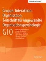 Gruppe. Interaktion. Organisation. Zeitschrift für Angewandte Organisationspsychologie (GIO) 1/2016