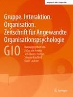 Gruppe. Interaktion. Organisation. Zeitschrift für Angewandte Organisationspsychologie (GIO) 2/2016