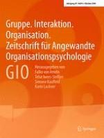 Gruppe. Interaktion. Organisation. Zeitschrift für Angewandte Organisationspsychologie (GIO) 3/2016
