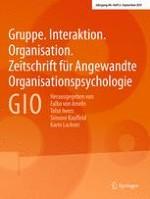 Gruppe. Interaktion. Organisation. Zeitschrift für Angewandte Organisationspsychologie (GIO) 3/2017