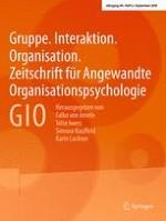 Gruppe. Interaktion. Organisation. Zeitschrift für Angewandte Organisationspsychologie (GIO) 3/2018