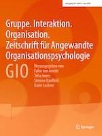 Gruppe. Interaktion. Organisation. Zeitschrift für Angewandte Organisationspsychologie (GIO) 2/2019