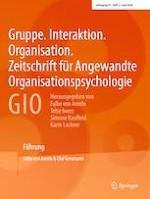 Gruppe. Interaktion. Organisation. Zeitschrift für Angewandte Organisationspsychologie (GIO) 2/2020