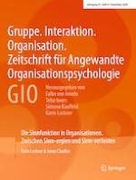 Gruppe. Interaktion. Organisation. Zeitschrift für Angewandte Organisationspsychologie (GIO) 4/2020