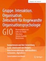 Gruppe. Interaktion. Organisation. Zeitschrift für Angewandte Organisationspsychologie (GIO) 1/2021
