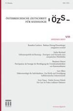 Österreichische Zeitschrift für Soziologie 1/2011