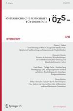 Österreichische Zeitschrift für Soziologie 3/2013