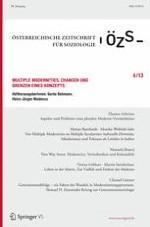 Österreichische Zeitschrift für Soziologie 4/2013
